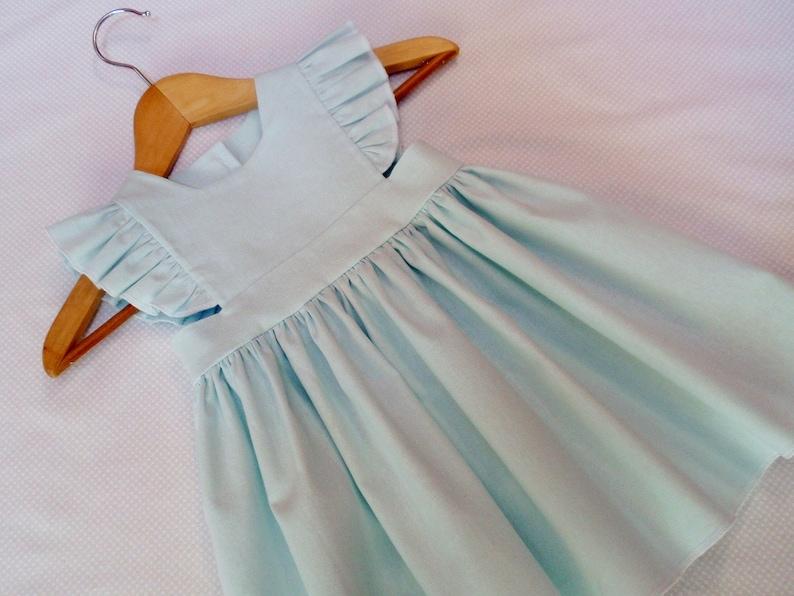52aa48316029 Light Blue Linen Pinafore Dress Toddler Linen Dress Special | Etsy