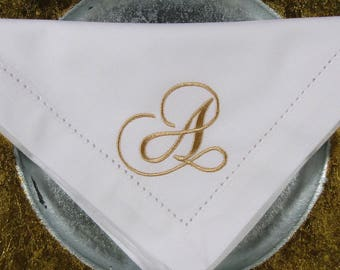 50 Monogrammed Napkins for Special Events