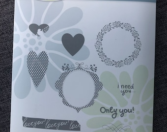 Love - only you - I need you - rubber cling stamps - diy craft supplies - invitations, cards, scrapbooking