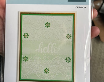 Stashbuster- Flora Banner -cut and emboss in one pass. New in original package.