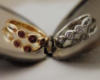 Nora - Custom Made 3 Stone Engagement Ring, Customizable Metal / Gemstone Pairing FREE SHIPPING US