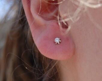 Stella - Cubic Zirconia Stud Earrings Sterling Silver