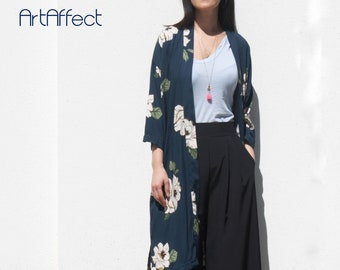 29f23e8a677e Navy Long Kimono Jacket