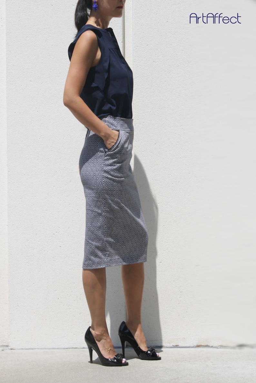 beb6f60ffa43 Plus Size Printed Pencil Skirts