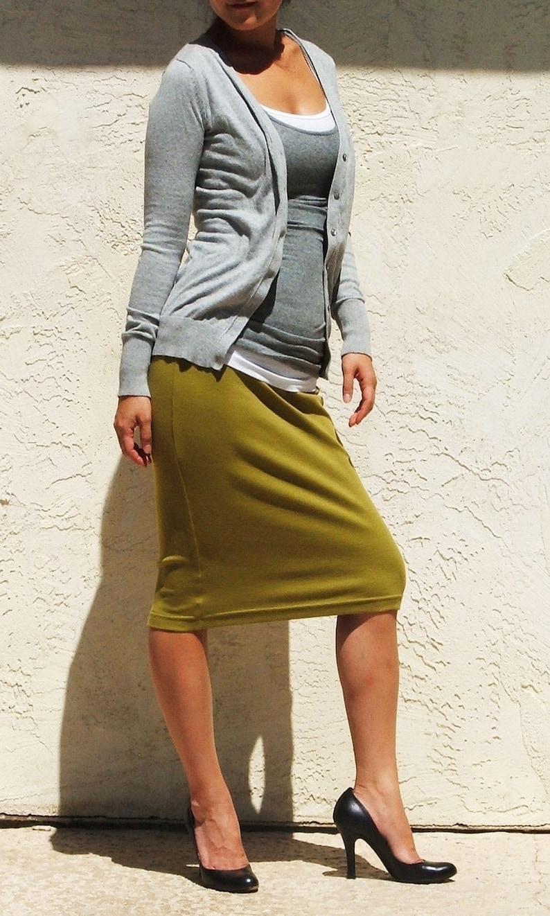 f5ad856d13 Pencil Skirt / Midi Skirt / Straight Skirt / Plus Size Skirt / | Etsy