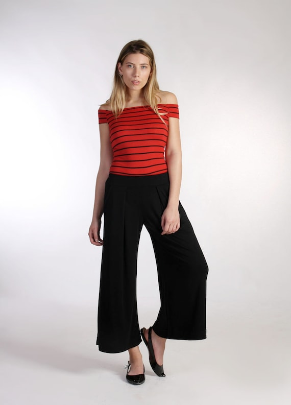 Wide Leg Pants / Palazzo Pants / Culottes / Black Pants/ Crop Pants / Wide  Bottom Pants / Plus Size Pants / Ankle Pants /Office Pants