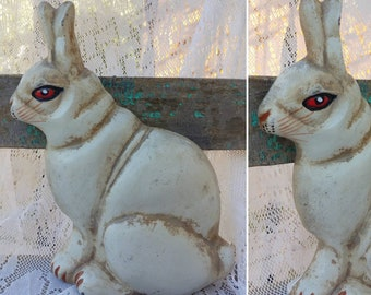 Baby Carriages & Buggies Charming Vintage Bunny Rabbit Doorstop 1930's Children's Pink Buy One Get One Free Antiques