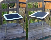 Cute Vintage Mid Century Industrial Speckled Formica STEP STOOL measures 10.75 quot Tall x 11 quot x 9.25 quot Industrial Decor Mid Century Decor