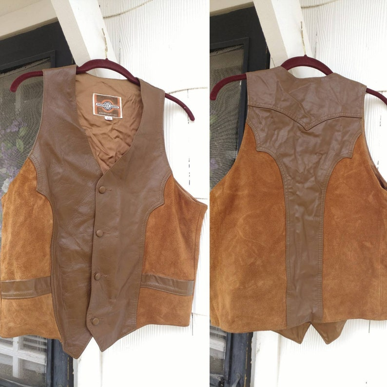 5881a42f46b Vintage 70 s PIONEER WEAR Western Style Suede and Leather