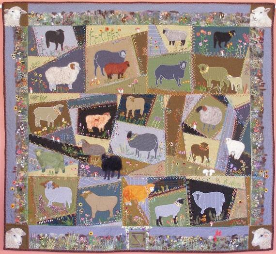 Birds in Wool Felted Applique Pattern by Debora Konchinsky Critter Pattern Wks