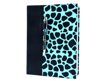 Composition notebook cover with option to personalize, notebook cover, fabric notebook cover, journal, teacher gifts - Animal Print