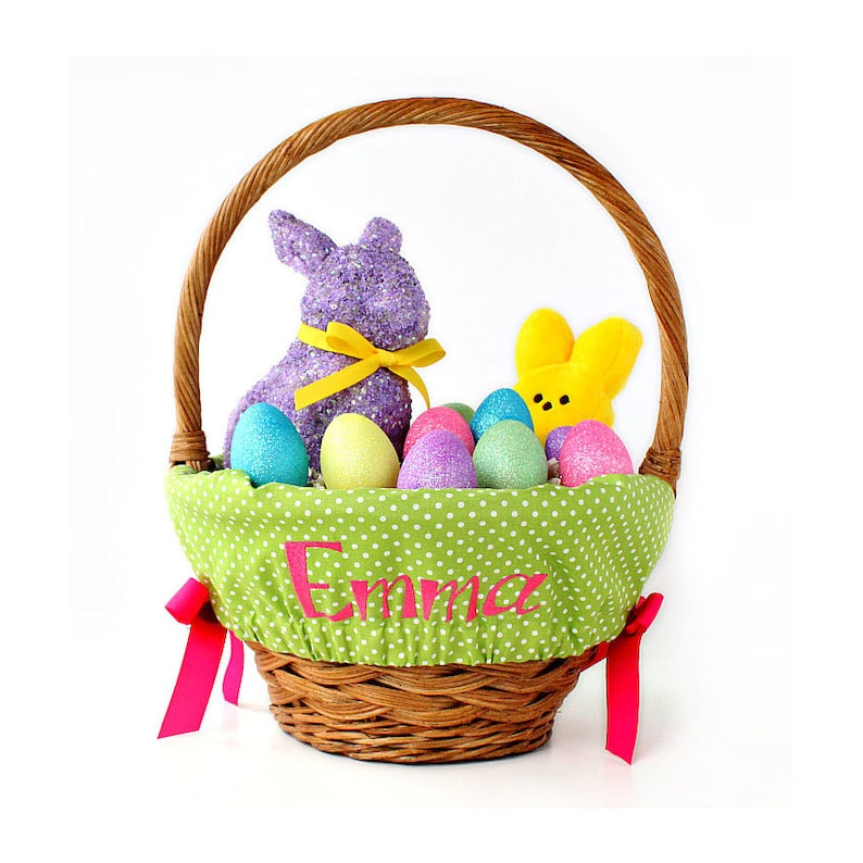Personalized Easter Basket Liner Size Small Easter Basket image 0