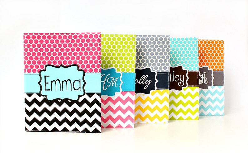 Personalized or Monogrammed Notebook Covers   Chevron and image 0