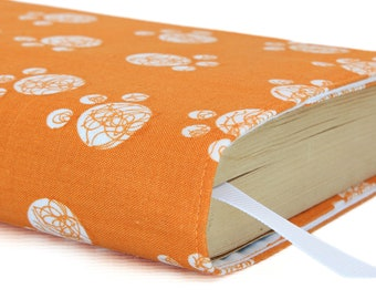 Paperback book cover, Mass Market, Reusable fabric book cover, Book Protector, Durable, Washable - Paw Prints