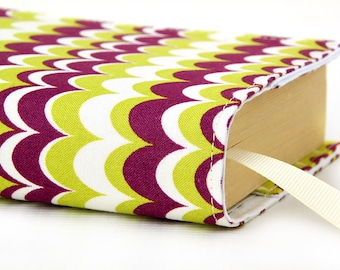 Paperback book cover, Mass Market, Reusable fabric book cover, Book Protector, Durable, Washable, Softcover - Groovy