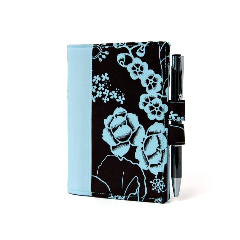 Blue Floral Little List Keeper Mini notepad clutch Day image 0