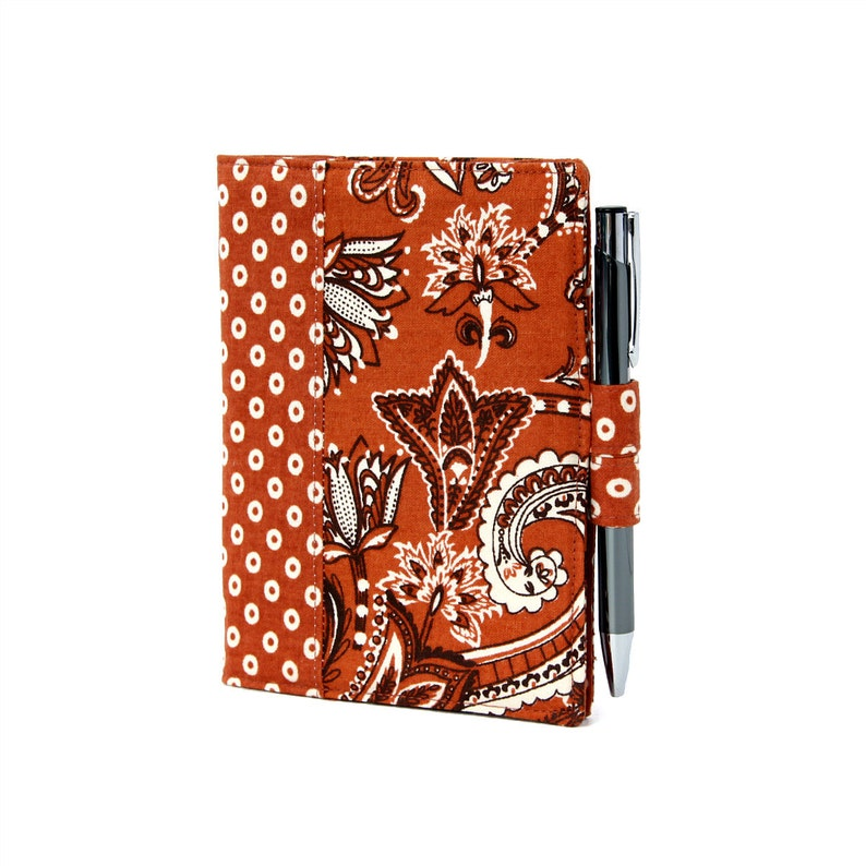 Rust Floral Little List Keeper Mini notepad clutch Day image 0