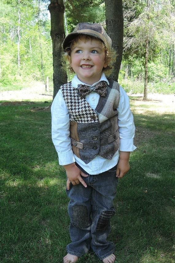 Kleine Jungen Weste Vintage Look Weste Kinder Foto Prop Etsy