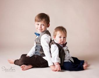 Little boys vest, vintage look vest, Boys Chrictmas outfit, kids photo prop, Wedding vest, recycled suit coat vest, Boys Christmas outfit