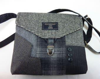 Recycled Purse Crossbody bag Crossbody Purse Recycled Crossbody Purse wool iPhone pocket Recycled mens suitcoat Tote bag