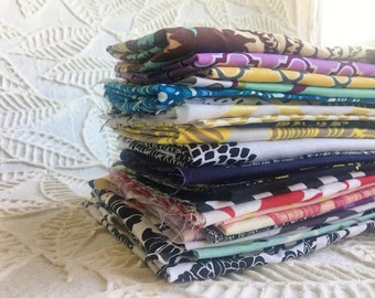 Scraps 100% Cotton Fabric Remnants Color Assortment Designer Swatches Fabric Remnant Bundle One Pound FREE SHIPPING