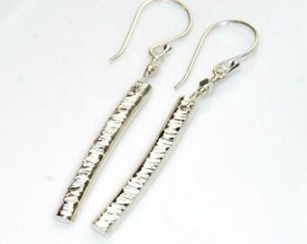 Sterling Silver Earrings, Bar Earrings , Dangle Earrings, Simple Jewelry, Minimalist, Long Earrings, Stick Earrings
