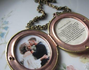 10 reasons why i love you locket, custom vintage locket, personalized locket