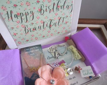 Happy Birthday Box You Are Beautiful Gift Care Package For Her