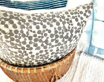 Sand spotted Pillowcase. Square Pillow cover. Throw pillow. Batik.