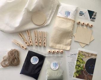 Deluxe Indigo Shibori Natural dye Kit - tie dye!