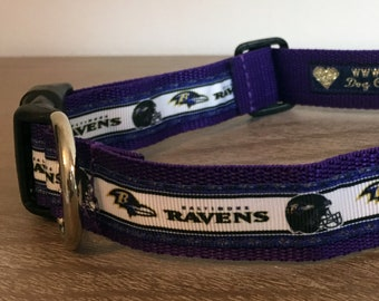 """Baltimore Ravensl dog collar - 1"""" width"""