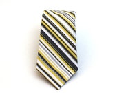Items Similar To Men S Tie Yellow And Grey Stripe