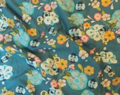 Art Gallery Emmy Grace Voile Floral Floats Fresh Fabric FAT QUARTER aqua hot pink yellow green grey teal blue soft quilting baby girl COTTON