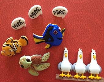 Finding Nemo Button Embellishments