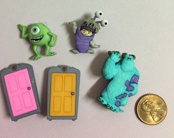 Monsters Inc Buttons