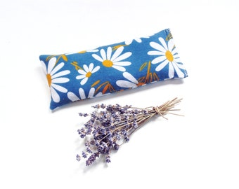 Lavender eye pillow, microwave heating pad, soft flannel pillow gift for mom