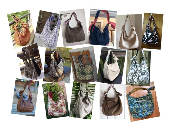 PDF Sewing Pattern To Make Hobo Bag Sling Tote Leona INSTANT Etsy Delectable Free Bag Patterns To Download Pdf