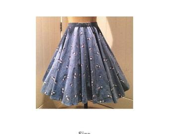 Women's multisize circle skirt PDF Sewing Pattern