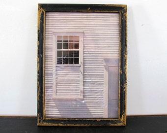 Art Photograph Shaker Architecture Antique Frame 1970s
