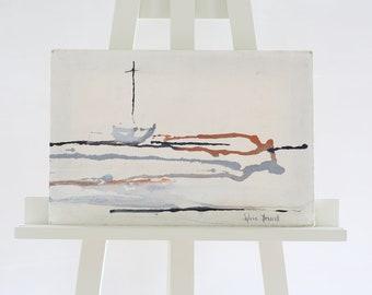 Seascape Painting Sylvia Driscoll Canvas Atmospheric Gloucester Ogunquit Maine Kennebunkport Massachusetts Signed