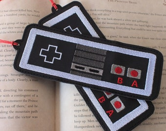 Classic Video Game Controller Bookmark - Embroidered Bookmark