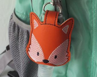 Fox Hand Sanitizer Holder Keychain