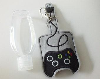 Video Game Controller Hand Sanitizer Holder Keychain