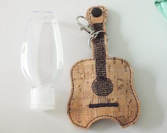 Guitar Hand Sanitizer Holder Keychain