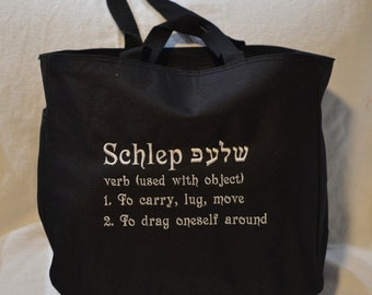 SALE 3 schlep Recycled Canvas Tote Bags 3 Black