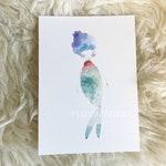 Pre-Order for Fallon, Watercolor Art Print for Framing, Rainbow Mermaid Art Print, Art for Kid's Room, Whimsical Art, 8x10