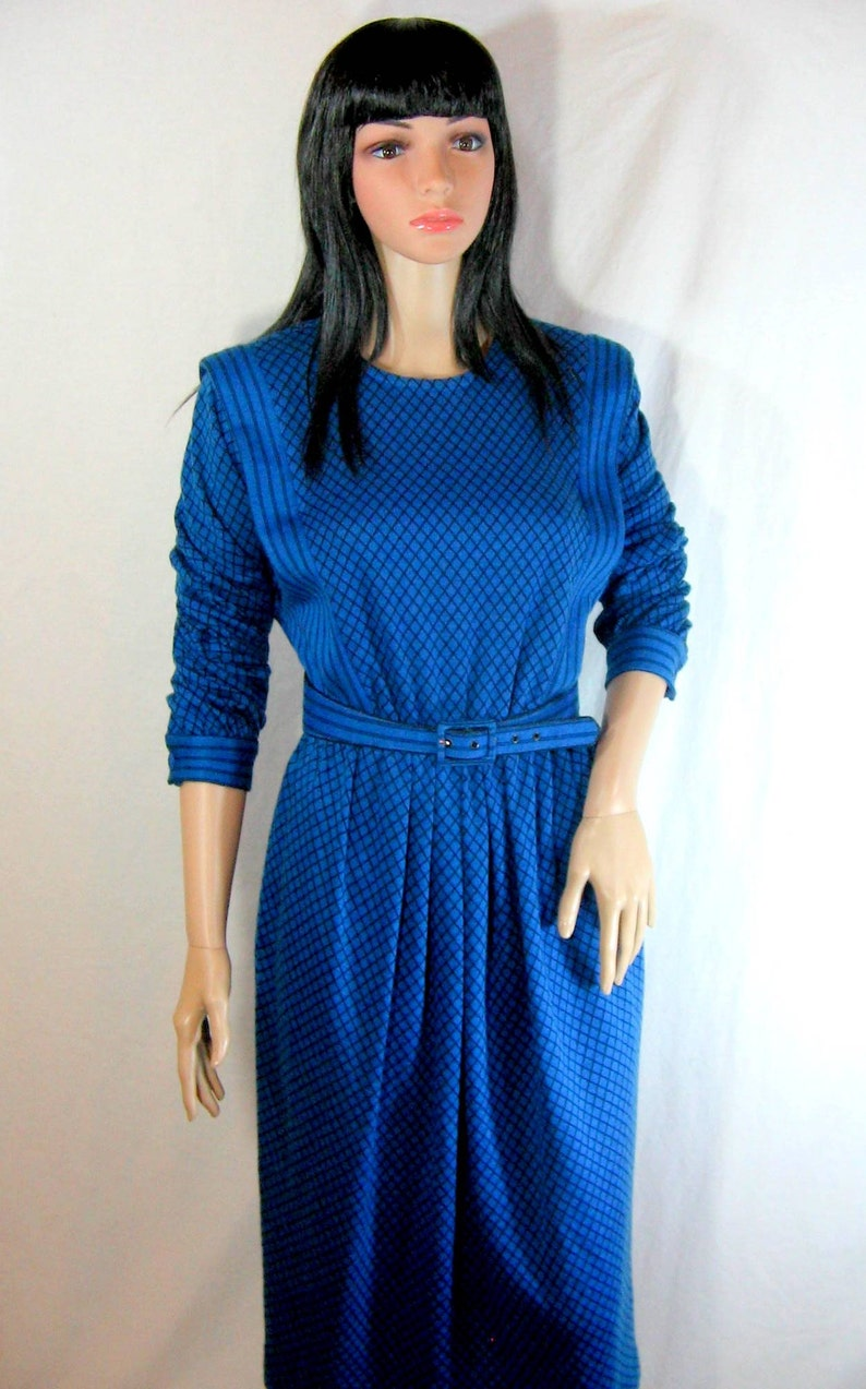 fd6e9b418a Royal Blue SWEATER DRESS 1980 s California Girl made in