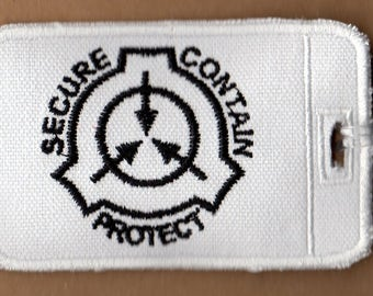 SCP Foundation Embroidered Luggage Tag