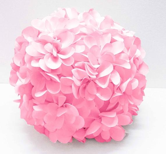 Pink Flower Pillow Round Pouf Circular Pillow Fibre Pillow Etsy