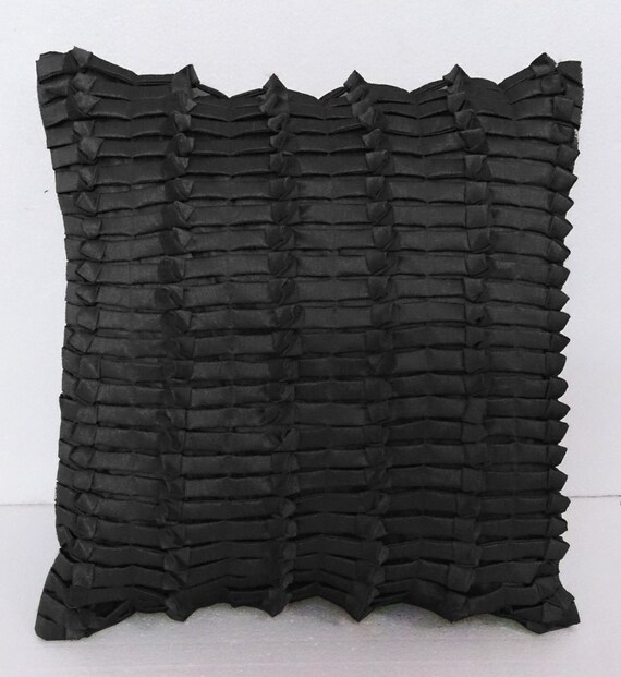 schwarze Kissen Dekokissen moderne Wohnkultur Bett Kissen Sofa | Etsy